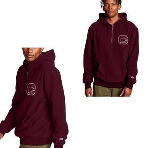 New men's Sherpa half zip hoodie